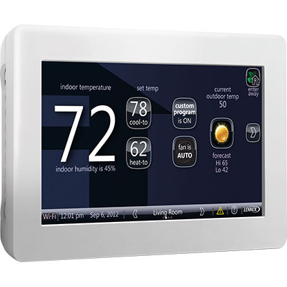 room thermostat / wall-mounted / for heating / wireless