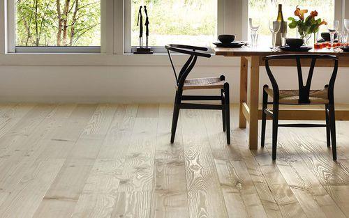engineered parquet floor / glued / Douglas fir / spruce