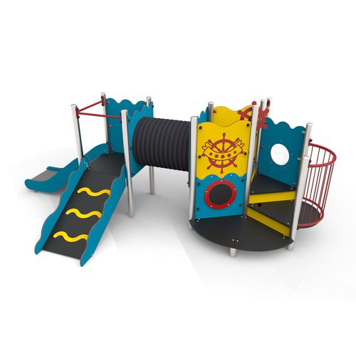 playground play structure / metal / HDPE / HPL