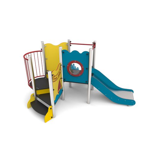 playground play structure / for public entity / for public buildings / HDPE