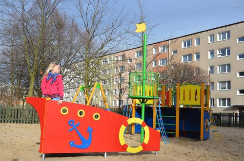 HPL play structure / wooden / for playgrounds