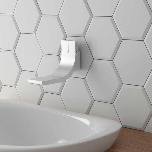 indoor tile / wall / ceramic / hexagonal