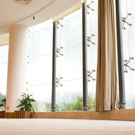 point-fixed curtain wall / glass / transparent