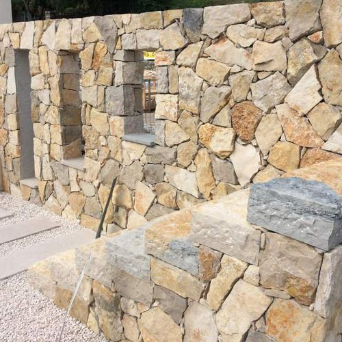 stone wall cladding / exterior / decorative