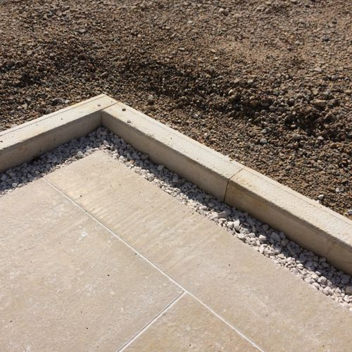 garden edge / natural stone / linear / rectangular