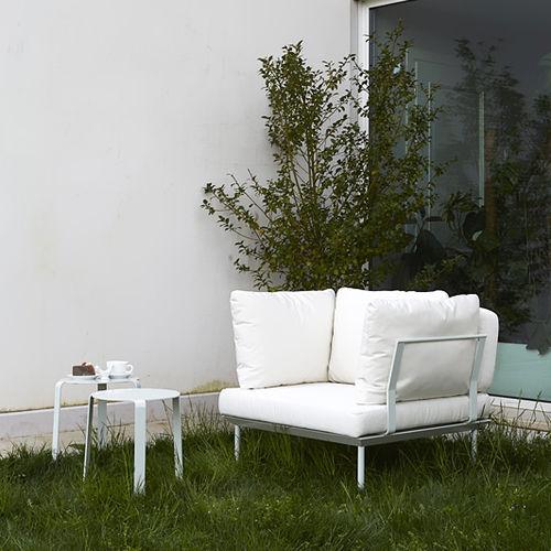 contemporary armchair / fabric / outdoor