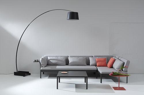 modular sofa / contemporary / aluminum / fabric
