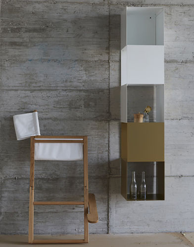wall-mounted shelf / contemporary / lacquered steel / commercial