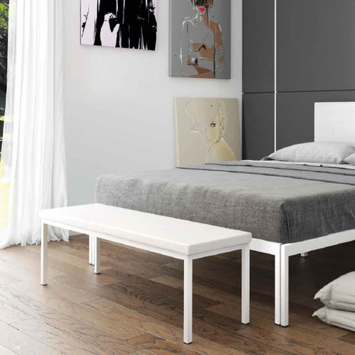 contemporary bed bench / steel / home