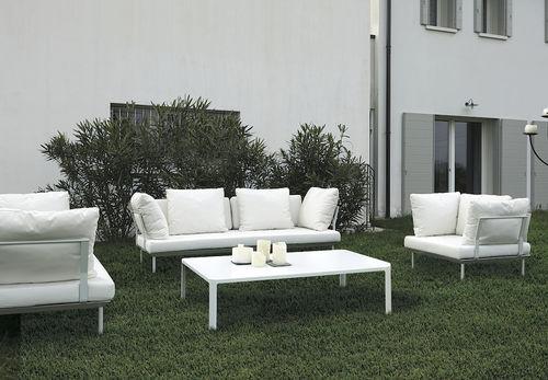 contemporary sofa / outdoor / fabric / aluminum