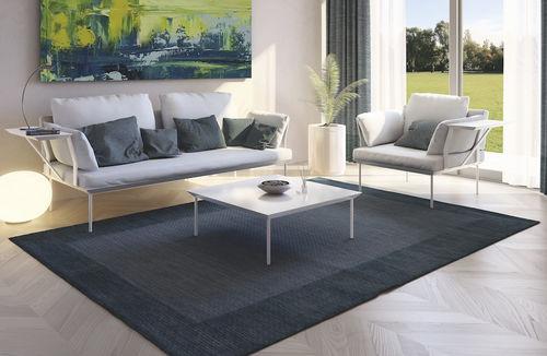 contemporary armchair / fabric / aluminum