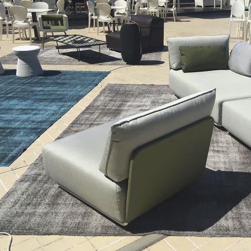 contemporary fireside chair / fabric / modular / outdoor