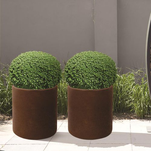 COR-TEN® steel planter / round / contemporary / for public spaces