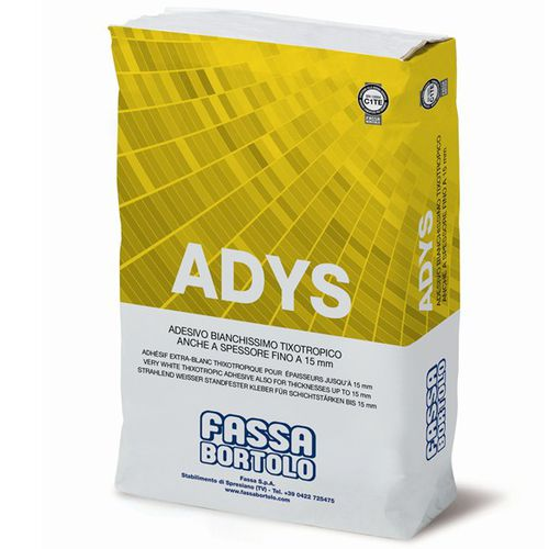 fixing adhesive mortar / for tiles / for flooring screed / for concrete