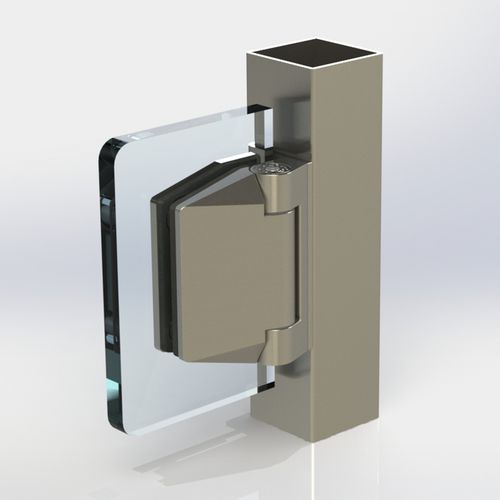 Glass door hinge / stainless steel POLARIS 120 series Clear glass