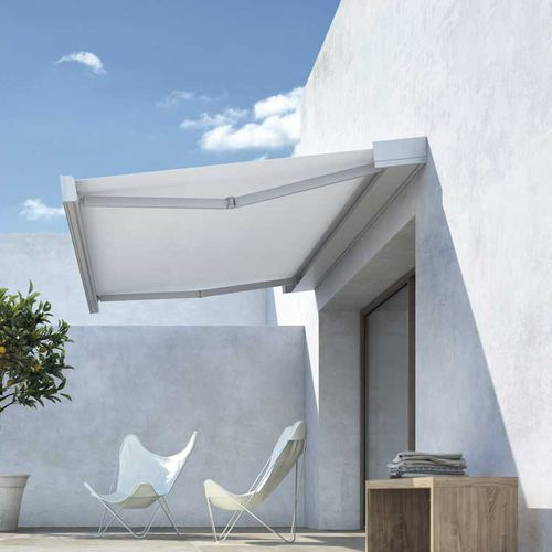 retractable awning / box / motorized / remote control