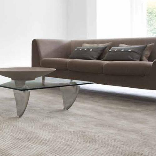 hand-woven carpet / viscose / wool / home