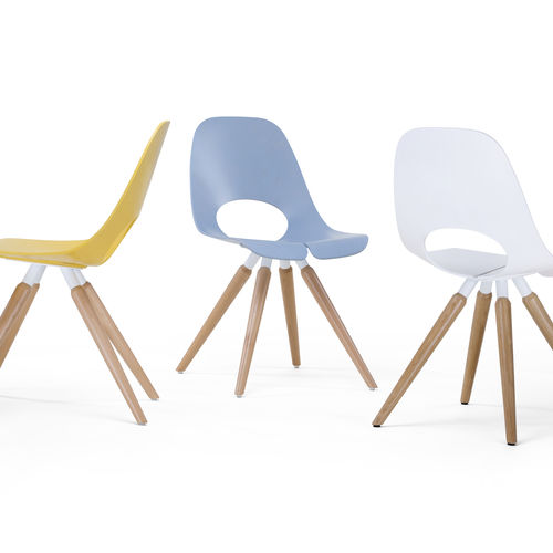 Visitor chair / conference / contemporary / wooden TAUKO by Mac Stopa Nowy Styl Group