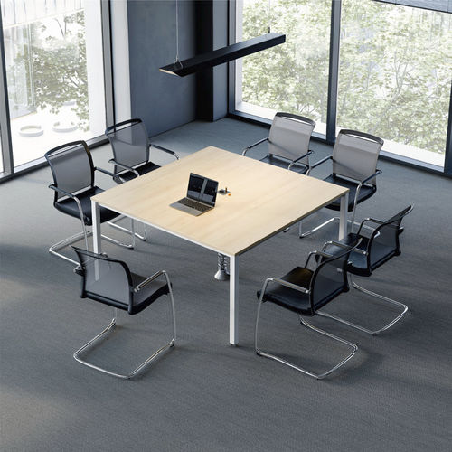 contemporary conference table / laminate / steel / rectangular