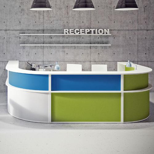 semicircular reception desk / laminate