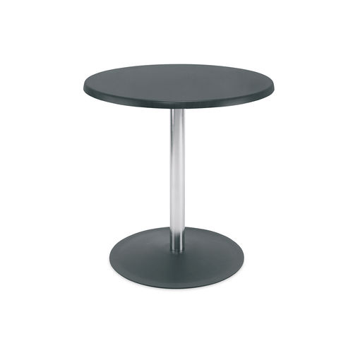 contemporary bistro table / metal / melamine / round