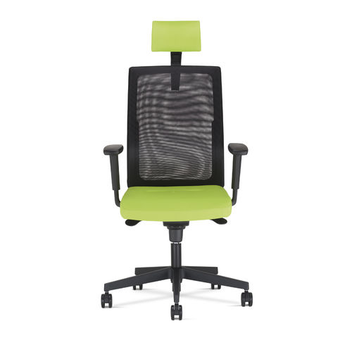 contemporary office chair / star base / upholstered / adjustable