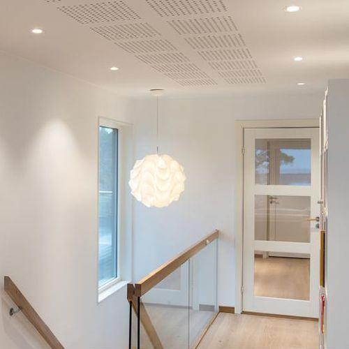 recessed ceiling downlight / LED / round / glass