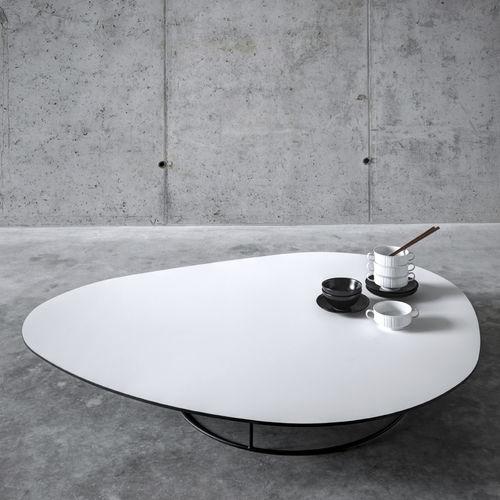 contemporary coffee table / walnut / MDF / chestnut