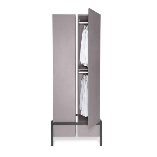 modular wardrobe / contemporary / MDF / with swing doors