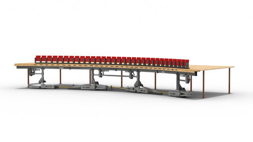 Stadium seating with hide-away seats CURVED QSX SYSTEM SERAPID