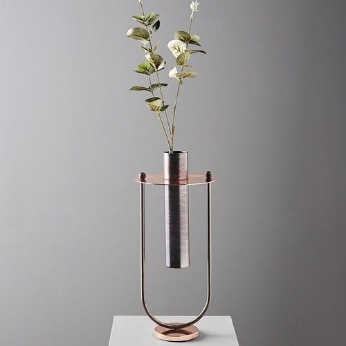 contemporary vase / copper / iron