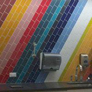 Bathroom tile wall ceramic multicolor DALTILE QUARRY TILE