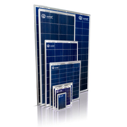 polycrystalline PV panel / transparent / for stand-alone applications / with aluminum frame