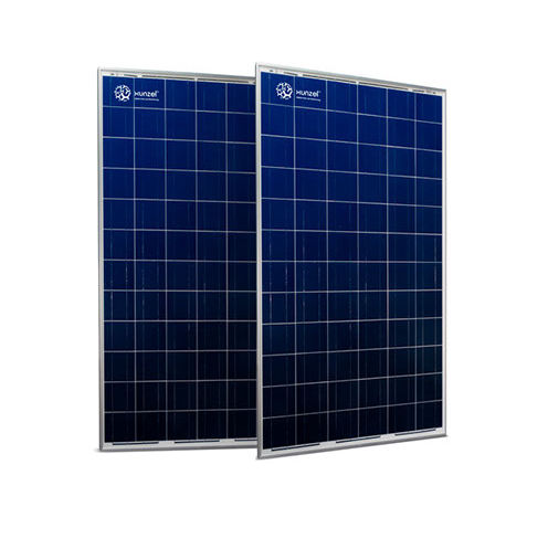 polycrystalline PV panel / transparent / with aluminum frame