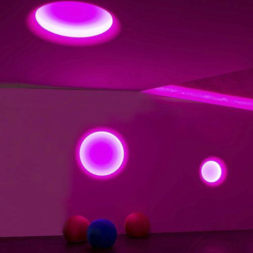 recessed light fixture / LED / round / plaster