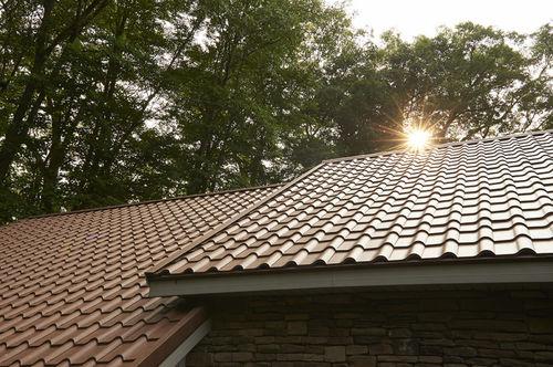 metal roof tile / ocher / traditional look