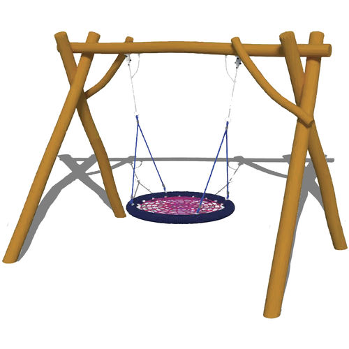 stainless steel swing / wooden / playground