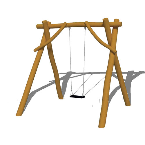 wooden swing / stainless steel / playground