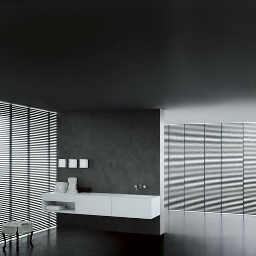 wall-hung washbasin cabinet / Corian® / wooden / contemporary