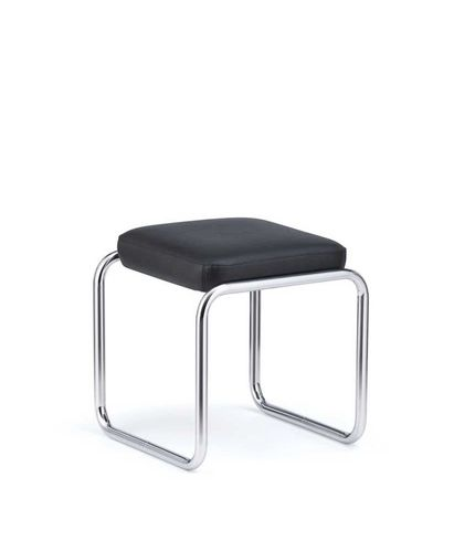 Bauhaus design stool / leather / steel / commercial