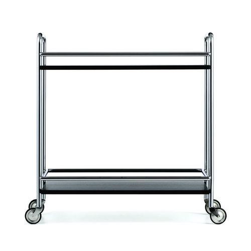 steel trolley / wooden / commercial