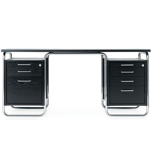 wooden desk / steel / Bauhaus design / for hotels