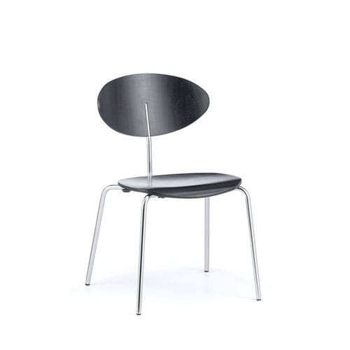 stackable conference chair / upholstered / with armrests / beech