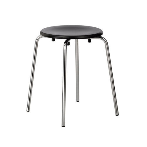 contemporary stool / plywood / chromed metal / commercial