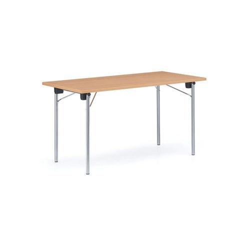 contemporary boardroom table / beech / chromed metal / rectangular