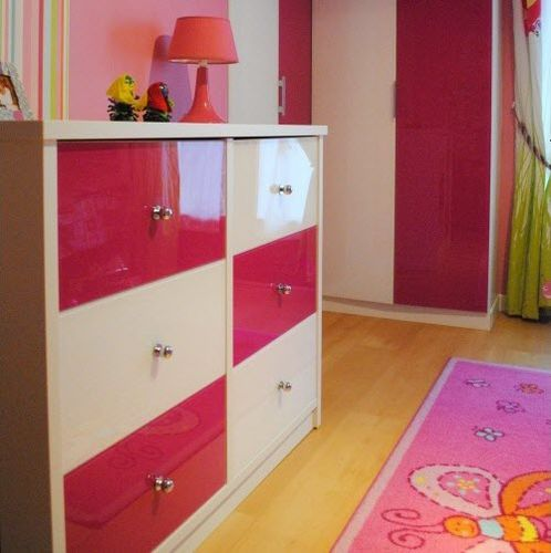 contemporary chest of drawers / glass / child's