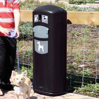 dog waste bag dispenser with trash can
