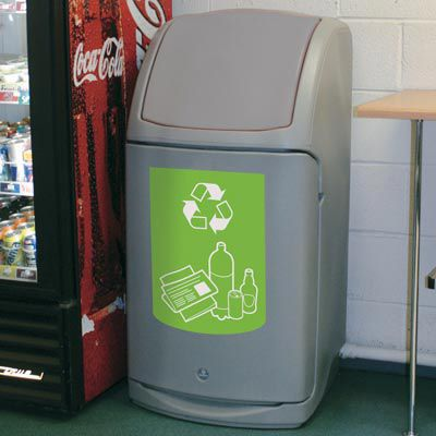 public trash can / recycled plastic / recycling / contemporary