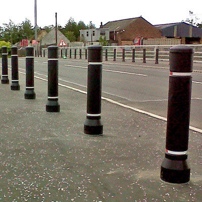security bollard / plastic / flexible / high