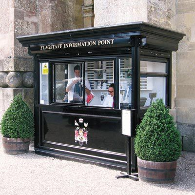 commercial kiosk / information / aluminum
